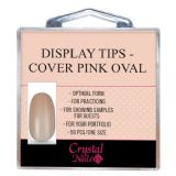 Display tips - Cover pink oval 50pcs